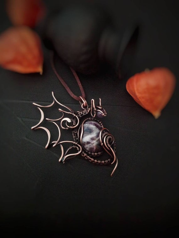Dragon Pendant Dragon Mother Necklace Wire Wrap Agate Necklace Etsy
