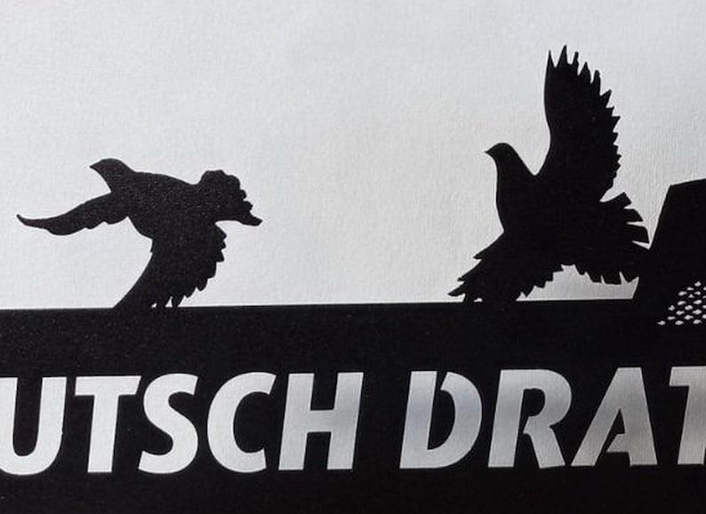German Wirehaired Pointer Deutsch Drahthaar Home Decor Metal Wall Art Address Plaque House Metal Address Number Front Porch Decor Metal Sign