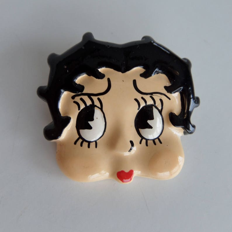 Cute Pin Up Girl Rockabilly Gift for Her Vintage Betty Boop Pin by Lisa Frank