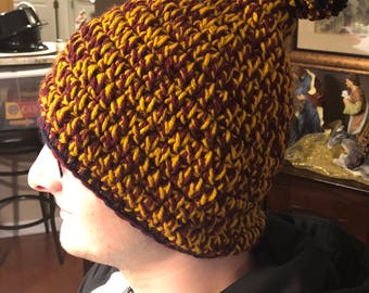 Cavs inspired Slouchy Beanie