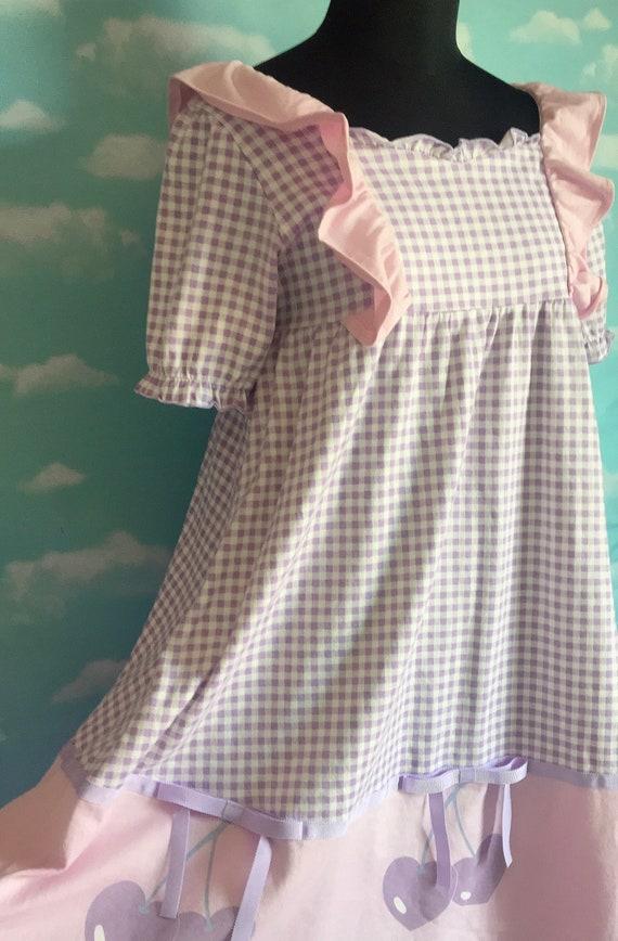 Candy Stripper Cherry BabyDoll Dress