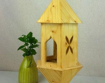 Wooden Bird House. Handmade.