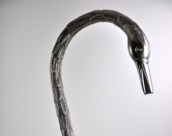 Pewter Handmade Feathered Swan Bar Faucet