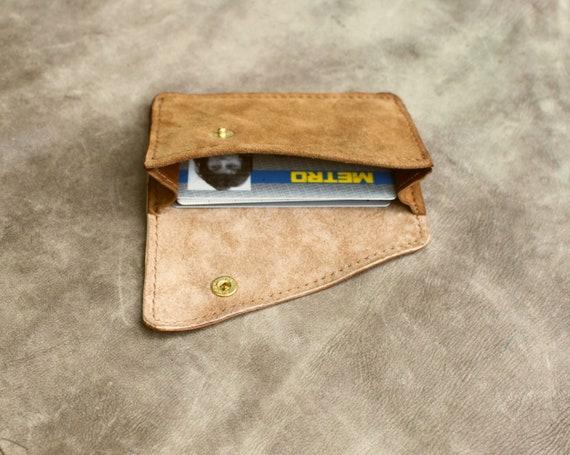 Mini sac à main antique daim marron clair