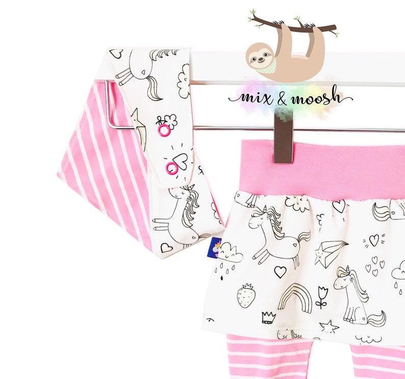 aaa87162d Unicorn Baby Set UV Fabric Baby Girl Outfit Unicorn and