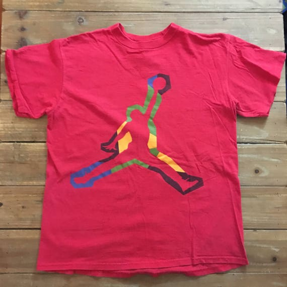 a1edecf5288ea7 Vintage Boy s 90 s Nike Air Jordan Red T-Shirt Size