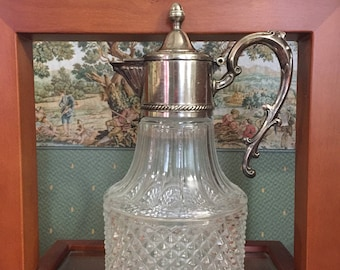 Italian decanter silver plated