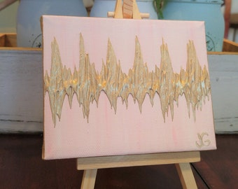 4x5 Mini Heartbeat Canvas, Baby Shower Gift for New Mom, Sonogram Art Gift, Gift for New Mom, First Mothers Day Gift, 1st Mothers Day Gift