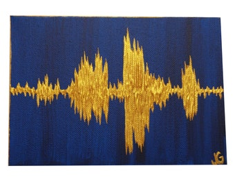 Sound wave painting | Etsy