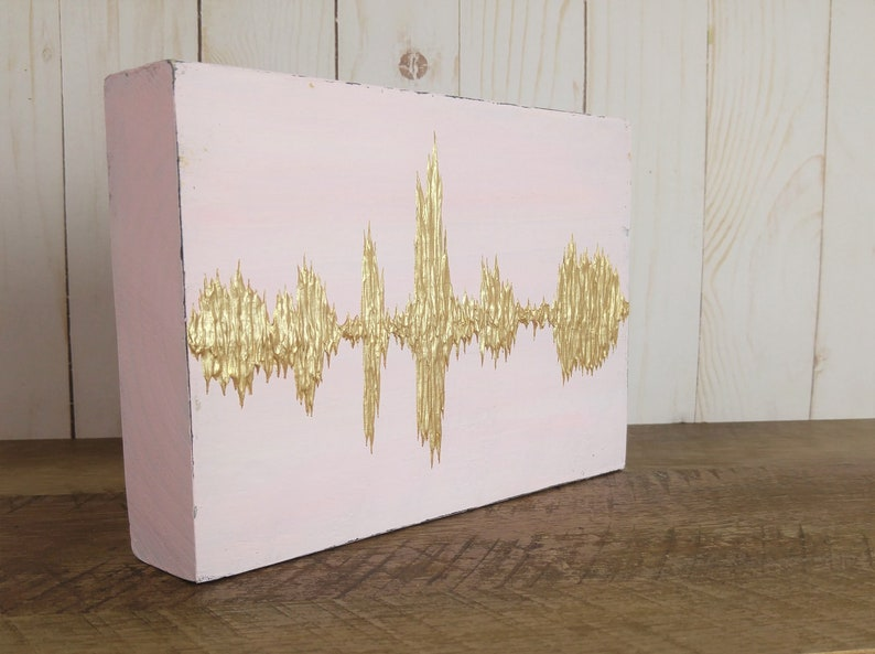 Sound Wave Gift Soundwave Gift Custom Sound Wave Art Custom Pink