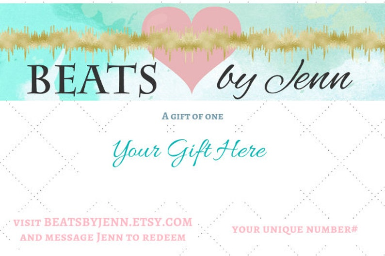 Last Minute Baby Shower Gift Heartbeat Painting Gift Beats image 0