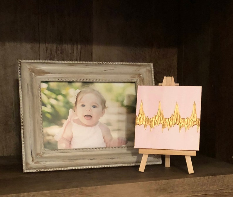 Small Baby Gift Heartbeat Painting for Babies Baby Shower image 0