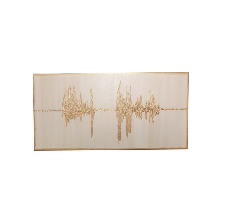Sound Wave Art Sound Wave Canvas Soundwave Gift Anniversary Champagne