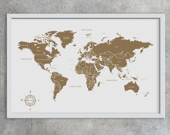 World map pin board etsy cork map cork board world mapmothers day corkboard mappin board gumiabroncs Image collections