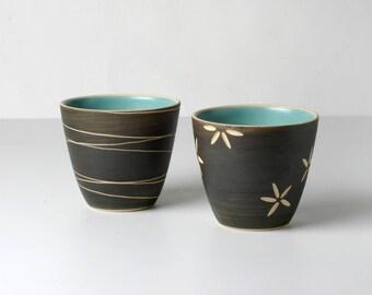 2 handcrafted espresso mugs