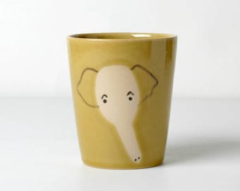 Yellow kids cups elephant gifts for children