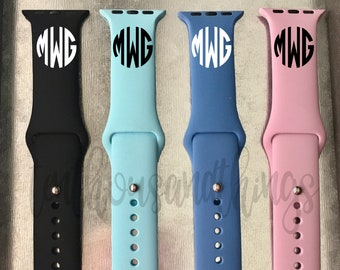 Solid Apple Watch Band with Free Monogram + Free Shipping! -- In Stock and Ready to Ship! -- Black Apple Watch Strap -- 38 mm and 42 mm