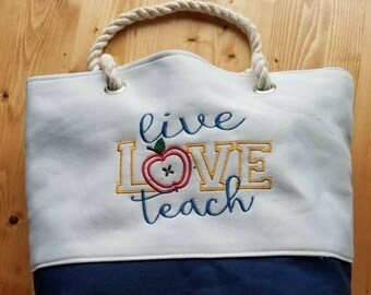 Teacher Tote Bag Gift Birthday Appreciation End Of Year Back To School