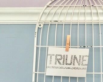 TRIUNE: The Nicene Creed - Digital Download Art Typography Print