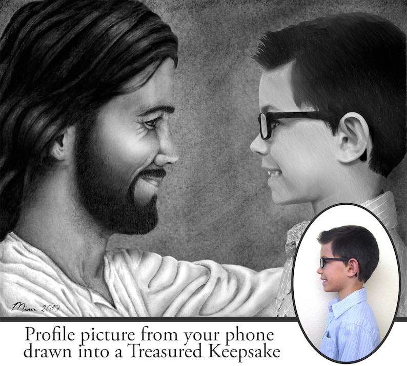 Come Unto Christ Custom Drawing image 0