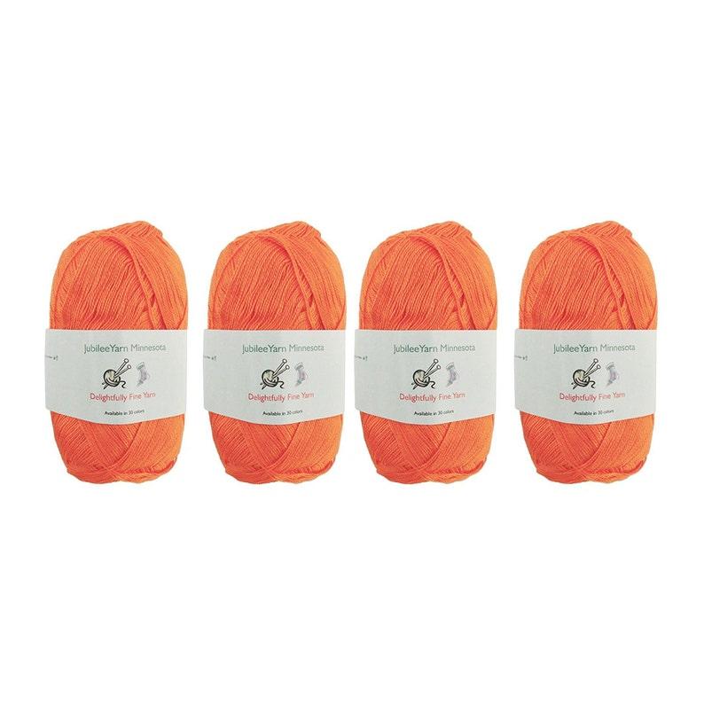26 Orange Juice 408 Skeins Soft Bamboo Tencel Fine Yarn