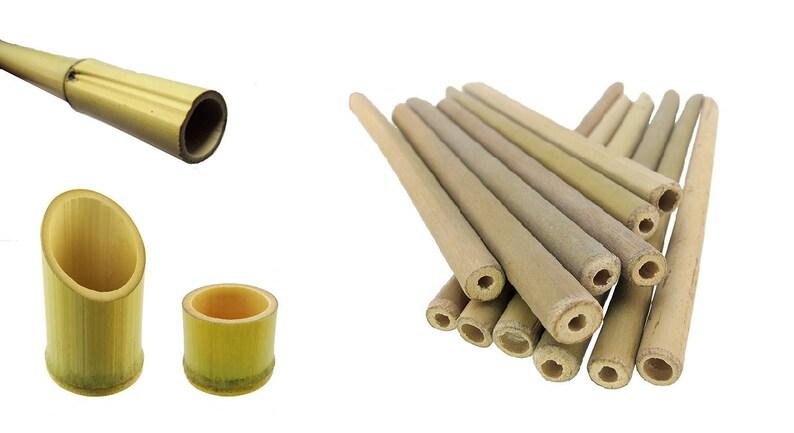 Bamboo Wood Tube Kit Reptile Lizard Terrarium Vivarium Stick Etsy