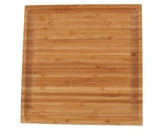 "Bamboo Grooved Cutting Board - 11"" x 11"" x .75"""
