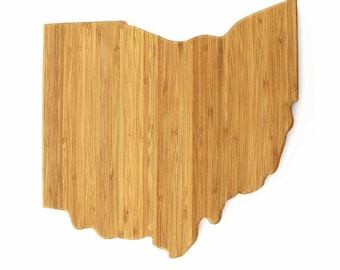 "Ohio Cut Out Bamboo Cutting Board - 11.75"" x 12"" x .75"" - 1 Piece"