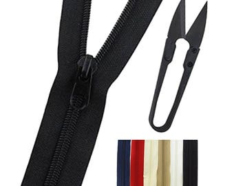Zippers with Pulls 10 yards
