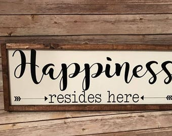 Happiness Resides Here