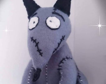 acfefe1a95add5 Frankenweenie plush character hand made with love, inspired by the Tim  Burton movie. Felt, embroidery threads He's adorable