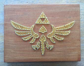 Zelda Triforce String art