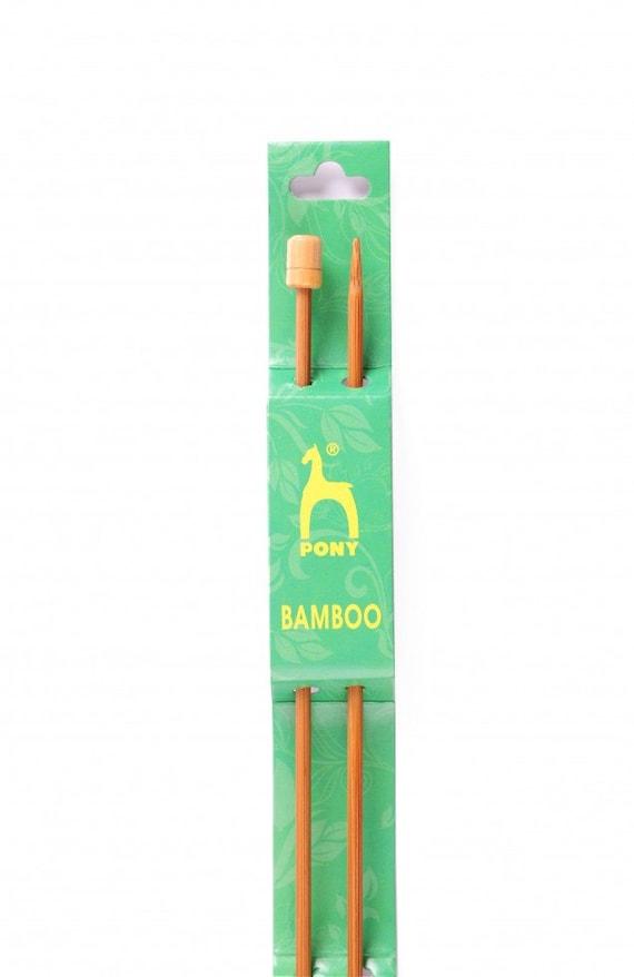 Pony Bamboo Knitting Needles Knit Pin Length 33cm Long Pick Width mm All Sizes