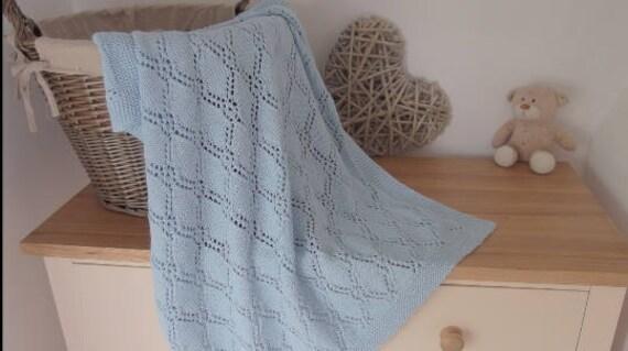 Baby Blanket Pattern Hand Knitted Baby Blanket Pdf Pattern Etsy