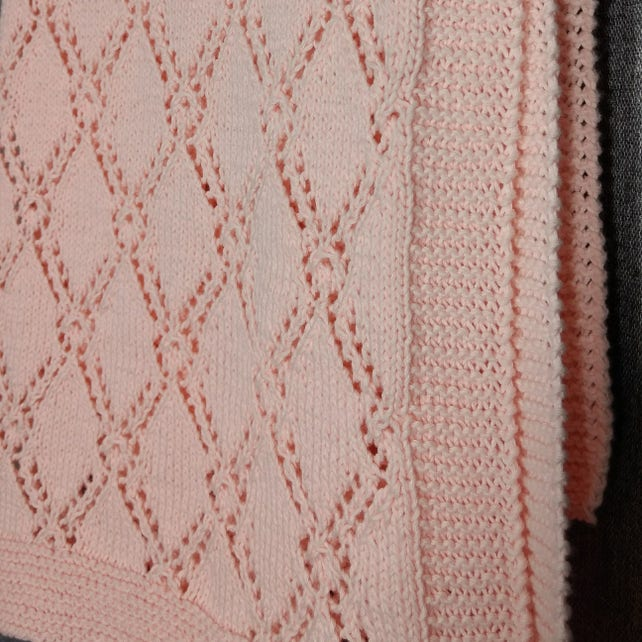 Diamond Lace Baby Blanket Pattern Hand Knitted Baby Blanket Etsy