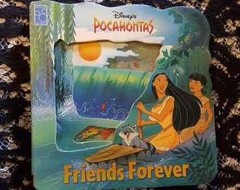 Pocahontas Friends Forever - A See-Through Storybook - 1995 Boardbook - Hard to find!