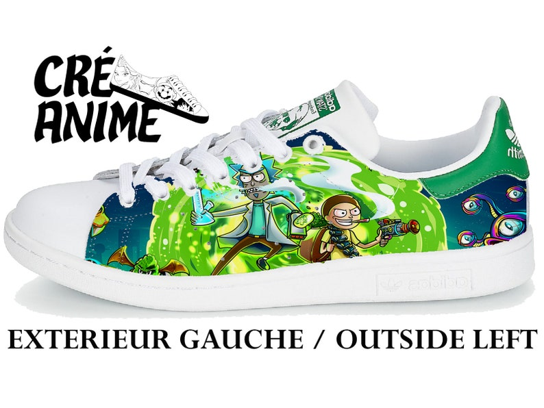 premium selection defdf 3febe Adidas Stan Smith Rick and Morty custom handpainted   Etsy