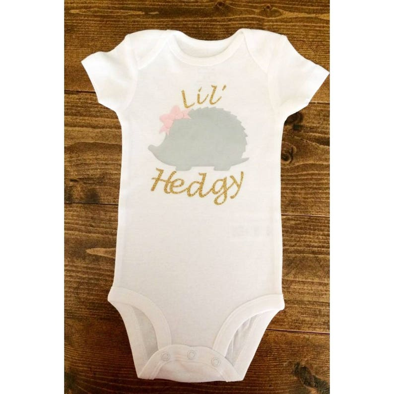 Hedgehog Baby Girl Theme Lil/'Hedgy Bodysuit Cute Baby Girl Bodysuit Newborn Coming Home Outfit