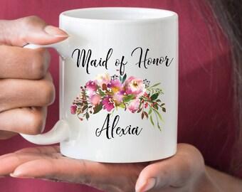 Maid of Honor Mug, Gift for Maid Of Honor, Maid Of Honor Proposal, Will You Be My Maid of Honor, Bridesmaid Party Favor, Best Friend Mug
