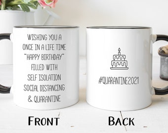Friend Caffeine and Quarantine Coffee Mug Social Distancing 2020 Gift for Mom