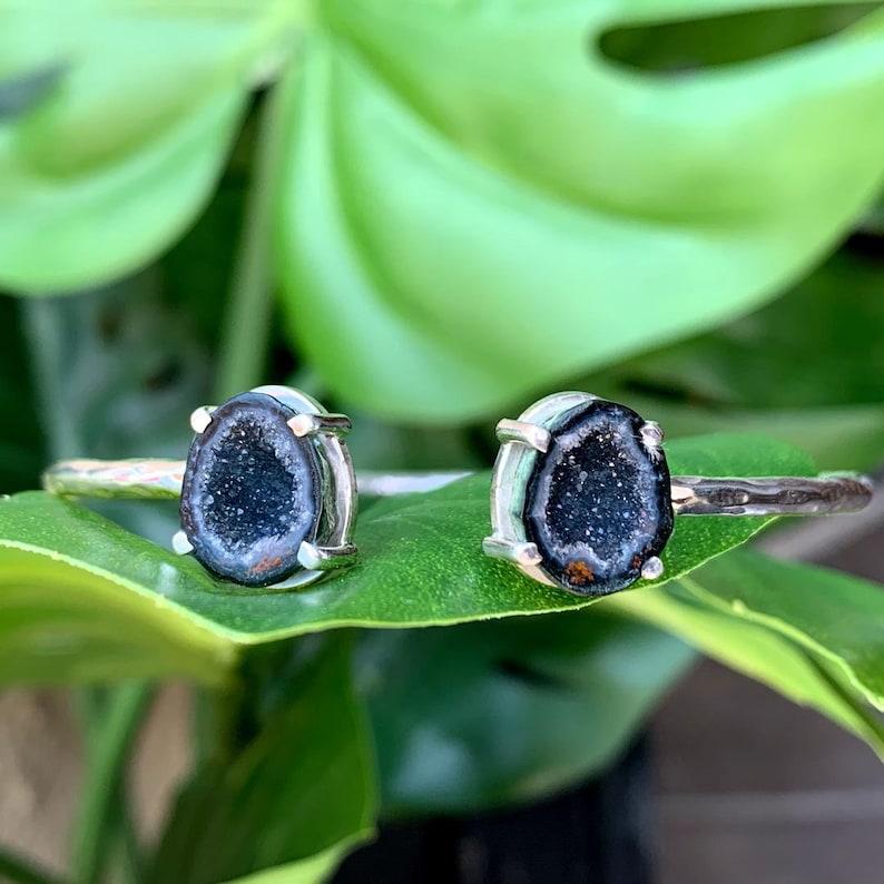 Sterling silver Tabasco Geode cuff bracelet