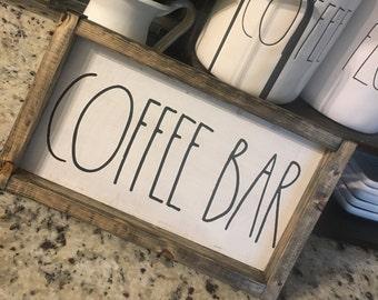Rae Dunn inspired coffee bar hand made sign