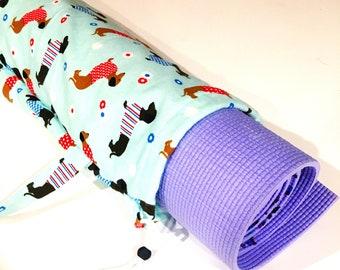 Dachshund Sausage Dog Yoga Mat Bag, Yoga Bag, Pilates Bag, Exercise Bag, Meditation Mat Bag, Gym Bag, Yoga Teacher Gift, Beads, Barre, Dog