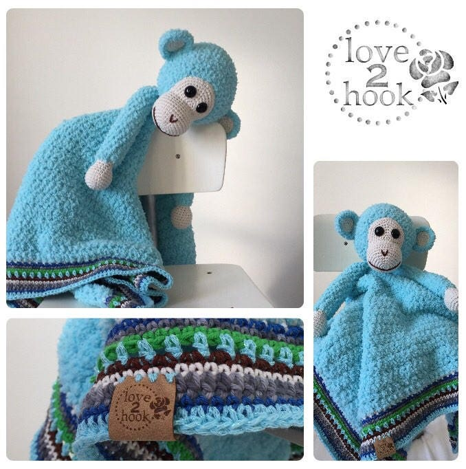 Cuddly Blanket Monkey Etsy