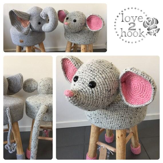 100 Wolle Häkeln Tiere Hocker Maus Etsy