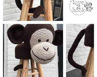 Animal Stool Monkey Crochet
