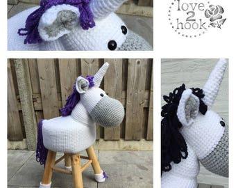 Animal Stool Unicorn Crochet