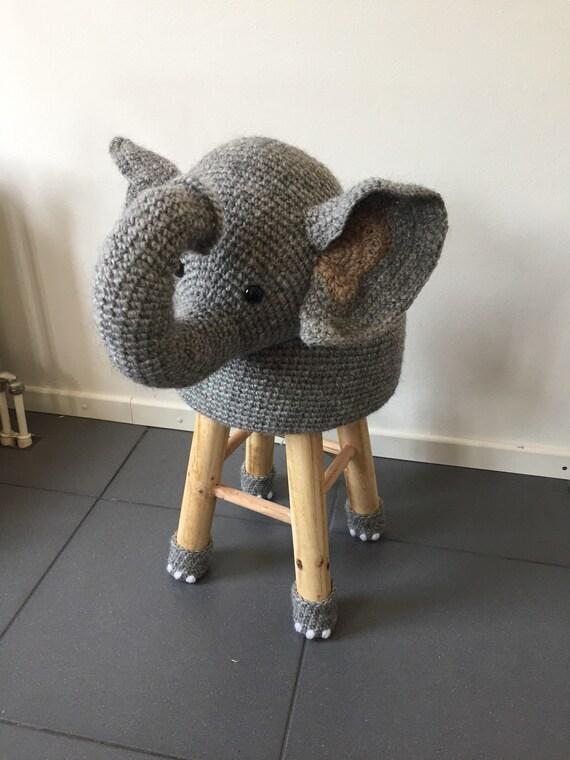 100 Wolle Häkeln Tiere Elefant Hocker Etsy