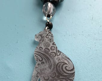 Paisley Kitty Necklace