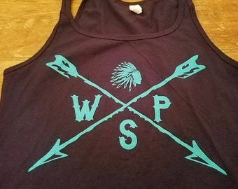 Blue Indian Widespread Panic Tank Top Lot Shirt